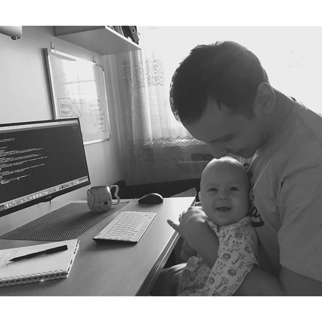 Мой мини-кодер. My mini-coder working with daddy